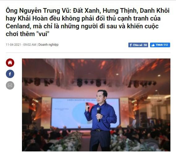 Cenland của ông Nguyễn Trung Vũ có gì mà đòi 'ngồi chung mâm' với Hưng Thịnh, Đất Xanh?